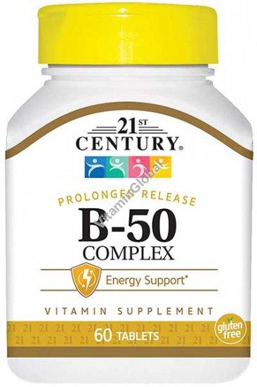В-50 комплекс пролонгированного действия 60 таблеток - 21st Century
