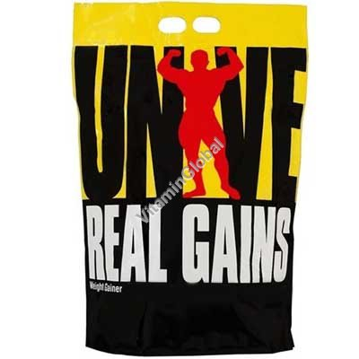 Гейнер Real Gains с банановым вкусом 3.11 кг - Universal Nutrition