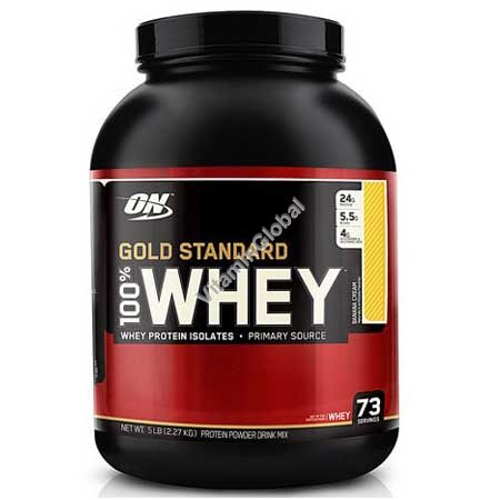 Золотой стандарт - сывороточный протеин со вкусом банана 2.270 гр - Оптимум Нутришен