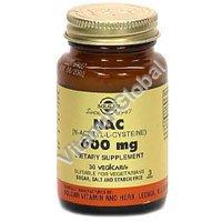 NAC 600 мг (N-Acetyl-L-Cysteine) 30 капсул - Солгар
