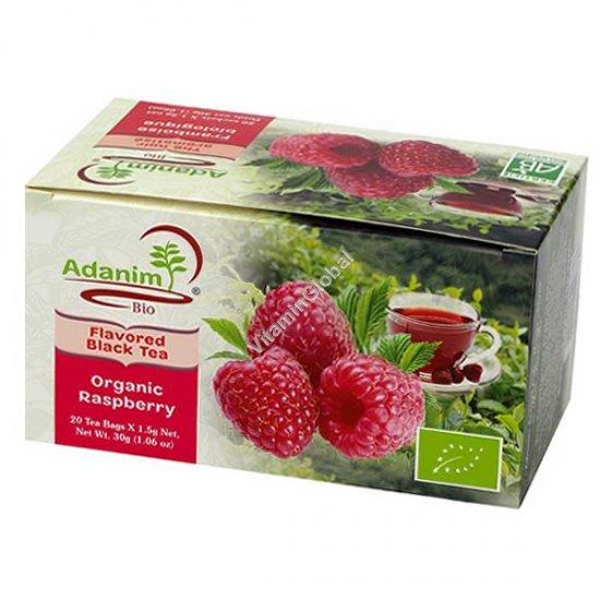 Органический чай с малиной 20 пакетиков - Аданим