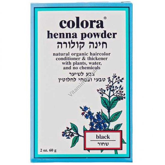 Хна для волос цвет черный 60 гр - Colora