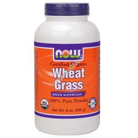Органическая пророщенная пшеница в порошке 255 гр - Now Foods