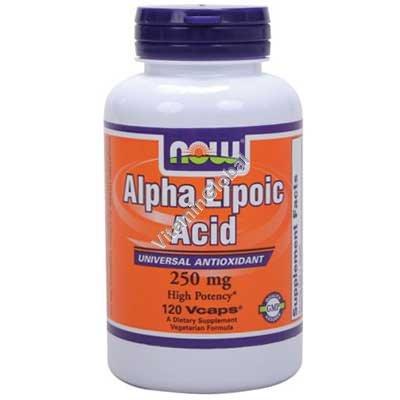 Альфа-липоевая кислота 250 мг 120 капсул - NOW Foods