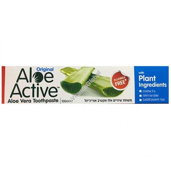 Натуральная зубная паста с алоэ вера 100 мл (125 гр) - Aloe Active