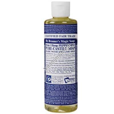 Натуральное жидкое мятное мыло 472 мл - Dr. Bronner