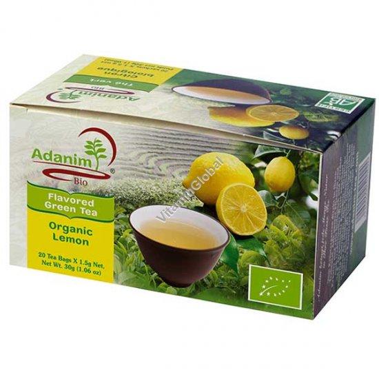 Органический зеленый чай с вербеной и лемонграсс 20 пакетиков - Аданим
