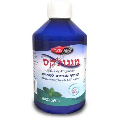 Молочко Магнолакс - гидроксид магния для питья со вкусом лимон-мята 500 мл - Oriental Secrets