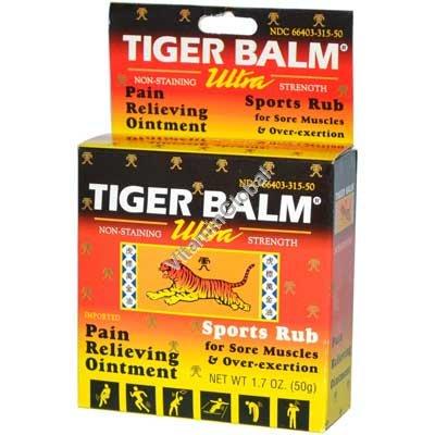 Тигровый бальзам - обезболивающая мазь ультра эффективная 50 гр - Tiger Balm