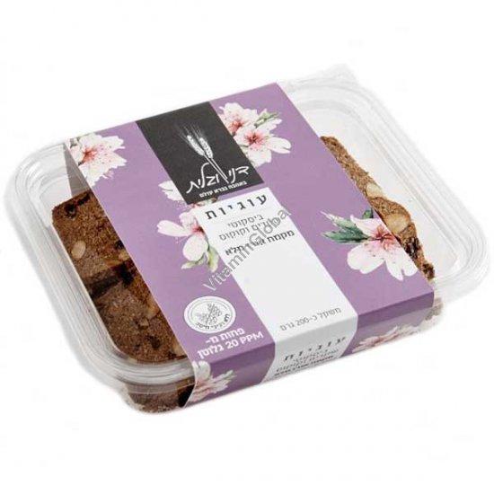 Печенье хрустящие бискотти с миндалем, кокосом и цельной рисовой мукой 200 гр - Дани и Галит