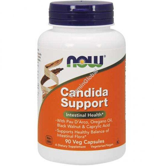 Candida Support (Кандида клир) для лечения кандидоза и дисбактериоза 90 капсул - Now Foods