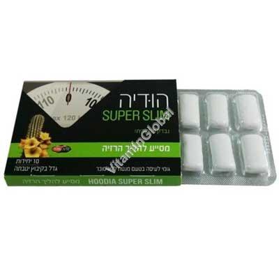 Жевательная резинка без сахара способствующая похуданию Hoodia Super Slim 10 подушечек - Oriental Secrets