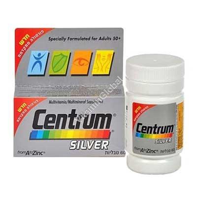 Мультивитамин для людей старше 50 Центрум сильвер 60 таблеток - Centrum