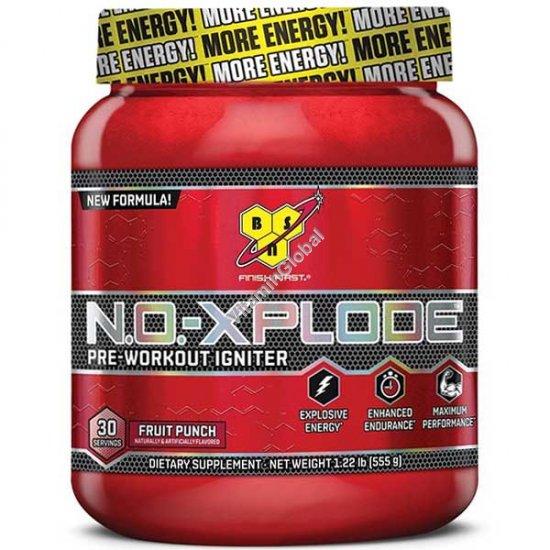 N.O.-Xplode предтренировочный комплекс с фруктовым вкусом 555 гр - BSN