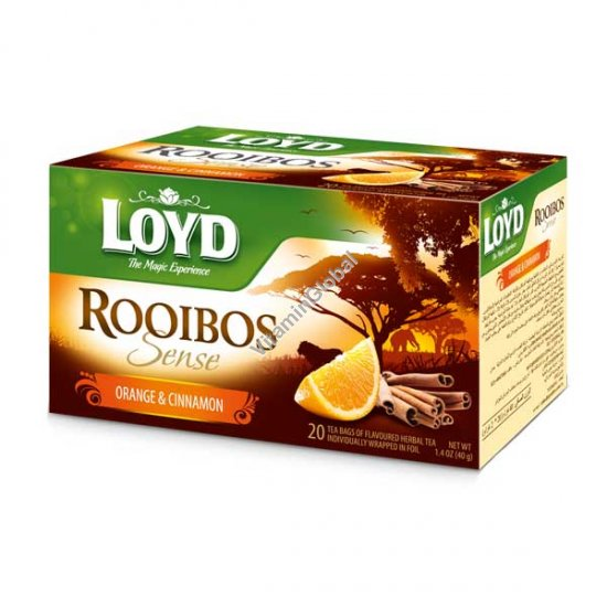 Ройбос с апельсином и корицей 20 фильтр-пакетиков - Loyd