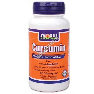 Куркумин из экстракта куркумы 60 вегитарианских капсул - Now Foods