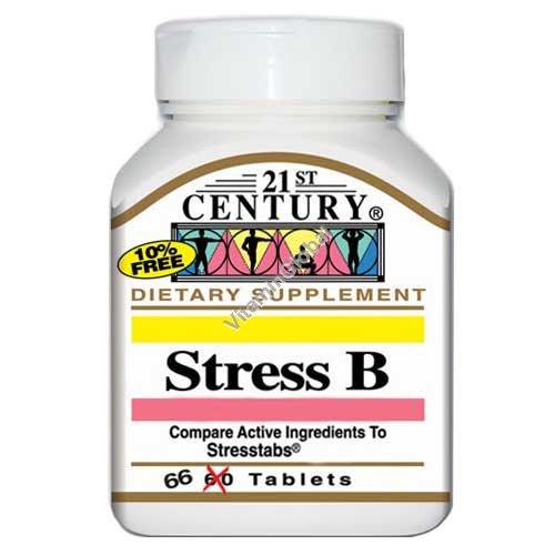Стресс В - комплекс витаминов 66 таблеток - 21st Century