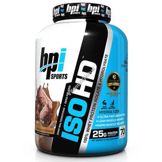 Сывороточный протеин изолят ISO HD со вкусом шоколадный брауни 2.285 кг - bpi Sports