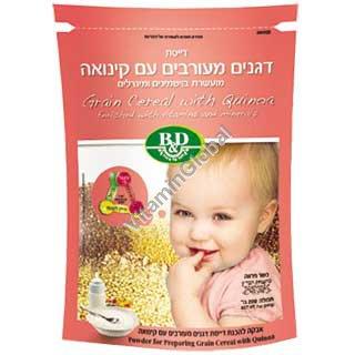 Каша для детей из злаковых и киноа с добавкой витаминов 200 гр - B&D