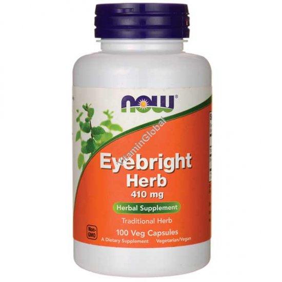 Очанка лекарственная - Айбрайт 410 мг 100 капсул - Now Foods