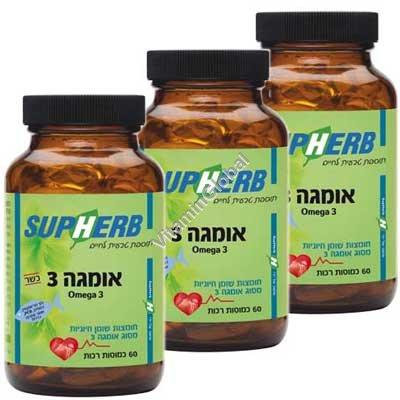 Омега-3 (3 X 60) 180 мягких капсул - SupHerb