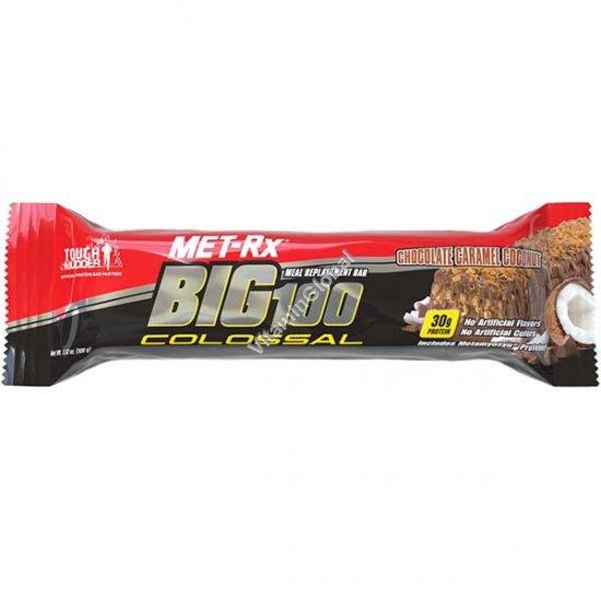 Протеиновый батончик шоколад карамель и кокос 100 гр - MET-Rx