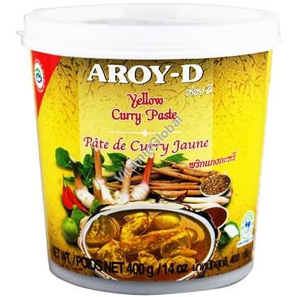 Желтая карри паста 400 гр - Aroy-D