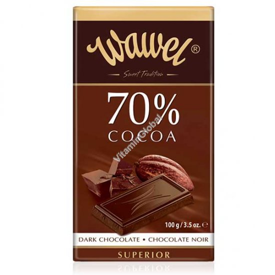 Премиум горький шоколад 70% какао 100 гр - Wawel