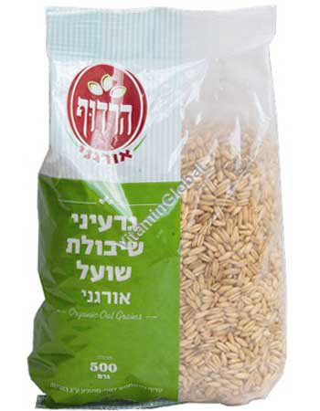 Органические цельные неочищенные зерна овса 500 гр - Harduf