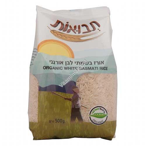 Органический белый рис Басмати 500 гр - Tvuot