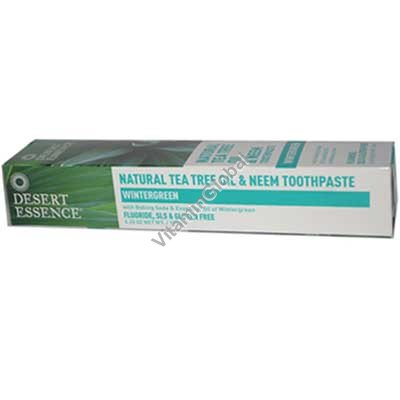 Натуральная зубная паста содержит масло чайного дерева и масло ним 176 гр - Desert Essence