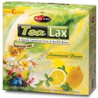 Чай от запоров Тилакс со вкусом лимона и мяты 40 фильтр-пакетиков - Oriental Secrets