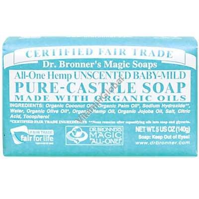 Натуральное мыло для детей и младенцев 140 гр - Dr. Bronner