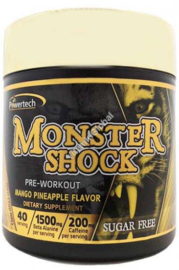 Монстр шок - предтренировочный комплекс со вкусом манго и ананаса 220 гр - PowerTech