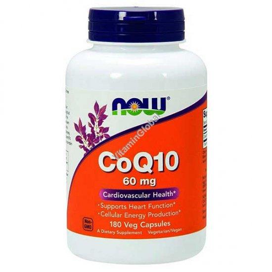 Коэнзим Q10 60 мг 180 вегитарианских капсул - NOW Foods