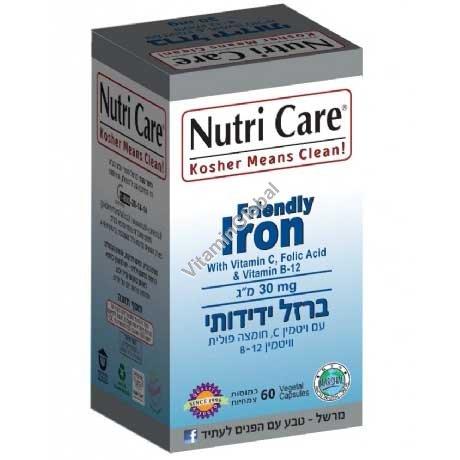 Комплекс железа Friendly Iron 60 капсул - Nutri Care