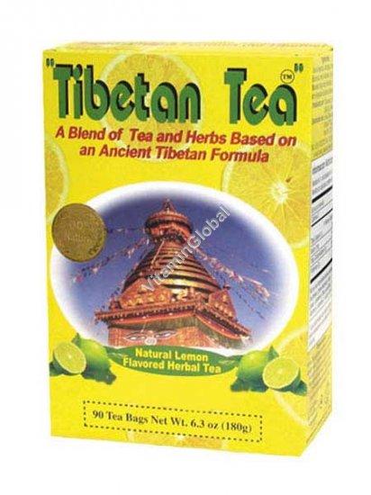Тибетский чай со вкусом лимона 90 пакетиков - Oriental Secrets