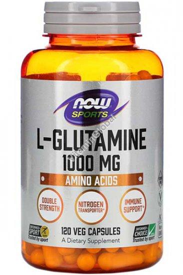 Л-Глютамин 1000 мг 120 капсул - Now Foods