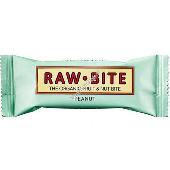 Органический батончик из фиников и арахиса 50 гр - Raw Bite