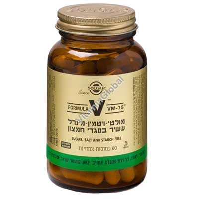 Мультивитамин VM-75 вегетарианский 60 капсул - Солгар