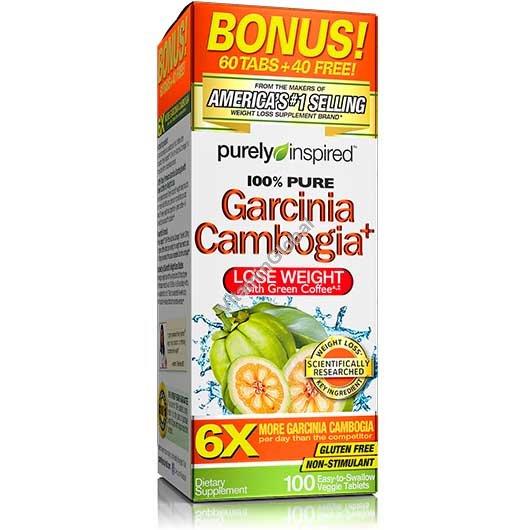 Гарциния Камбоджийская с экстрактом зеленого кофе 100 таблеток - Purely Inspired