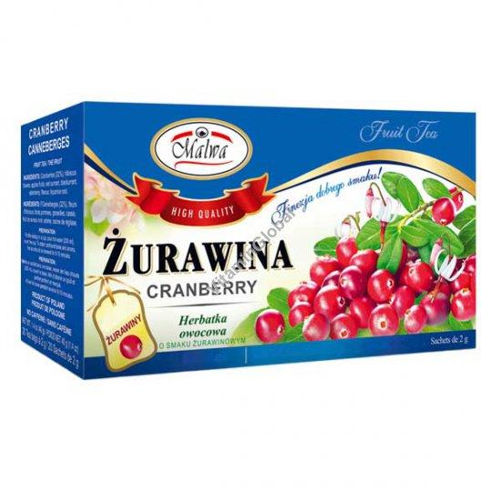 Фруктовый чай клюква 25 фильтр-пакетиков - Мальва