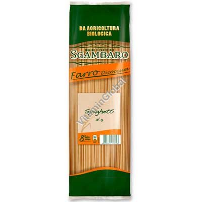 Спагетти из органической цельной спельтовой муки 500 гр - Sgambaro