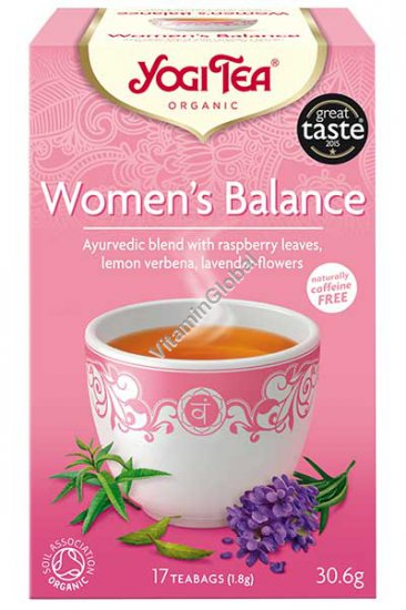 """""""Женский баланс"""" - аюрведическая чайная смесь с листьями малины, лимонной вербеной и цветами лаванды 17 фильтр-пакетиков - Yogi Tea"""
