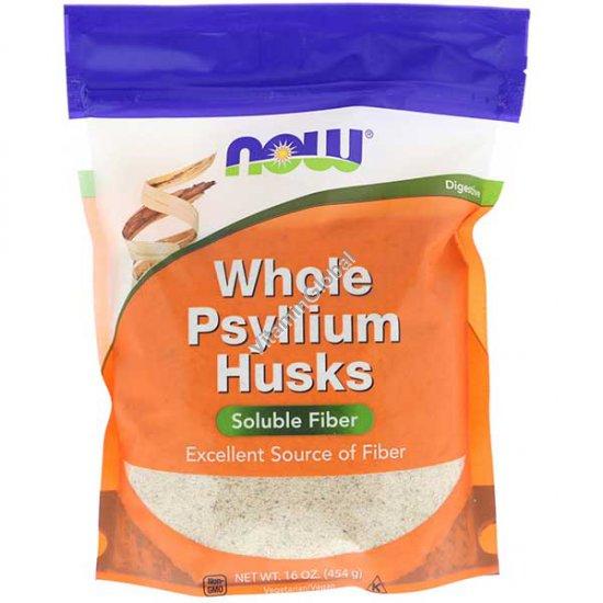 Оболочка семян подорожника в порошке 454 гр - Now Foods