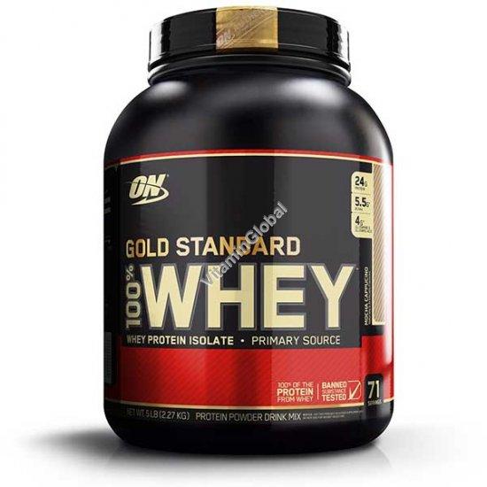 Золотой стандарт - 100% сывороточный протеин со вкусом мокка-капучино 2.270 гр - Optimum Nutrition