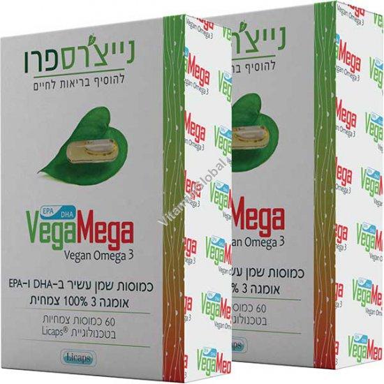 Вега Мега Омега 3 из водорослей 120 (60+60) капсул - Nature\'s Pro
