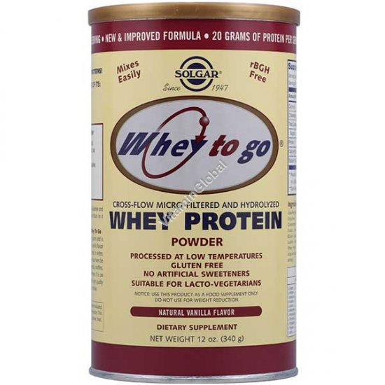Сывороточный протеин микрофильтрованный со вкусом ванили 340 гр - Солгар