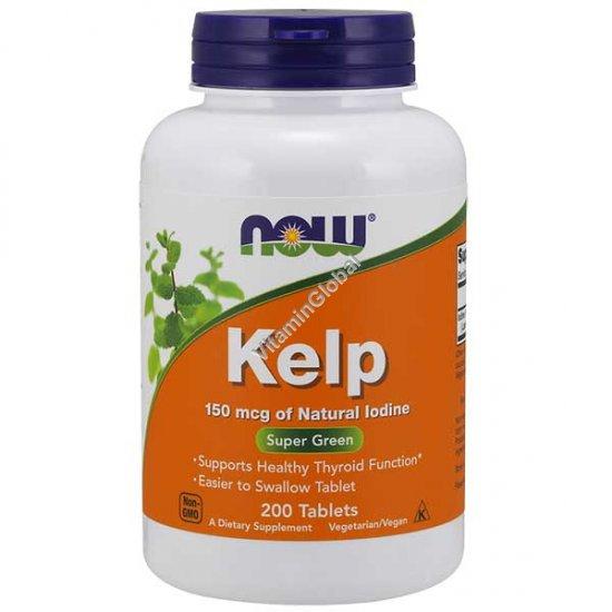 Бурая водоросль Келп 150 мкг. 200 таблеток - NOW Foods