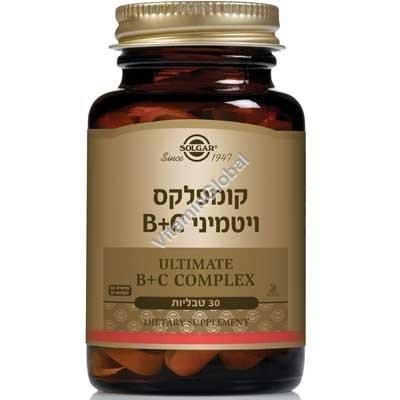 В+С комплекс (стресс формула) 30 таблеток - Сольгар
